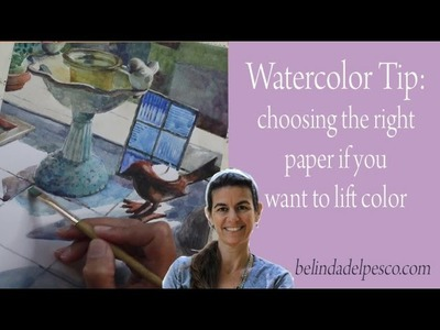 Watercolor Tip: Lifting Color & Paper Selection