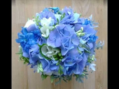 Wedding Bridal Bouquets in Blue, Lilac, Purple and Mauve