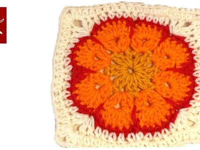 African Crochet Granny Square Part 1