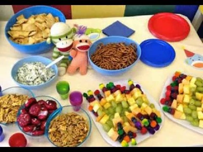 Birthday party food decorations for kids