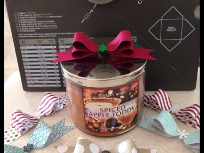 Christmas Project 4 ~ Christmas Paper Bows