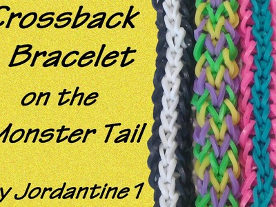 Crossback Bracelet made on the Monster Tail - Rainbow Loom