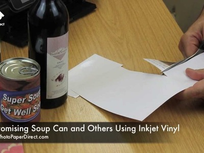 Customising Soup Can and Bottle Using Inkjet Sticker Paper