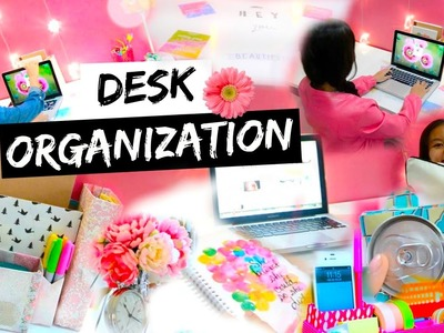DIY Desk Organization & Decoration Ideas! + My Desk Essentials!