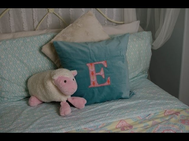 DIY: How to Sew Your (Or Your Child's) Initials Onto a Pillow