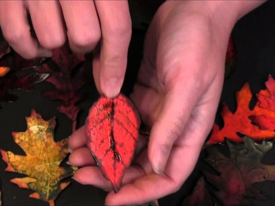 Fall Projects - How to use Tim Holtz Tattered Leaves die - TUTORIAL