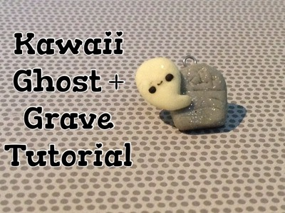 Halloween Tutorial - Ghost & Grave Charm: Polymer Clay