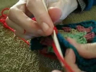 How I attach Granny Squares Together Tutorial