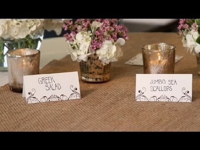 How to Decorate a Food Table for Weddings : Great Wedding Ideas