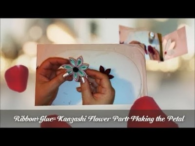 HOW TO MAKE A KANZASHI FLOWER. PART 1 - Making the petals - DAY 8