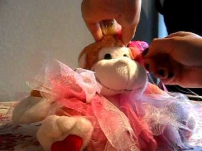How to make a NO SEW tutu for a stuffed monkey 2of2