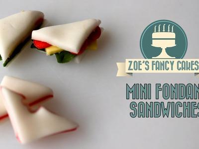 How to make mini fondant sandwiches How To Cake Tutorial