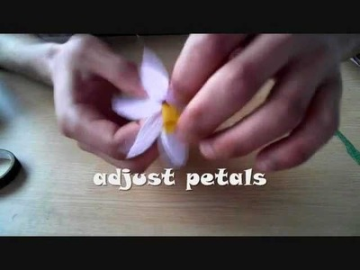 How to make paper flower daffodil