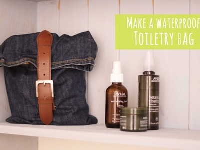 Make a toiletry bag from old jeans