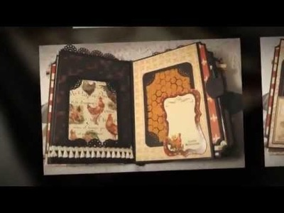 """MON PETIT POUSSIN~""""Captured Moments""""~Rooster Chicken premade scrapbook album selling on Ebay"""