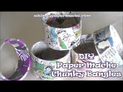 Paper Mache Chunky Bangles
