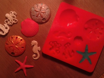 Polymer Clay in Mod Podge Mod Molds Sea Life