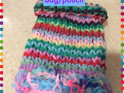 Rainbow loom Mini bag.pouch tutorial