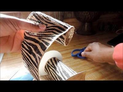 Repurpose Tissue Rolls Into Napkin Rings Tutorial