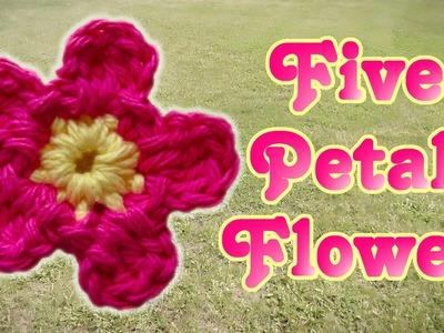 Simple Crochet Flower 5 Petals