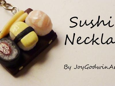 Sushi Board Necklace!- Polymer Clay Tutorial ~JoyGodwinArts