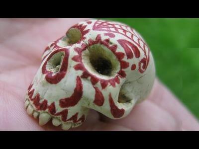 Vampire.Demon Sugar Skull (polymer clay)