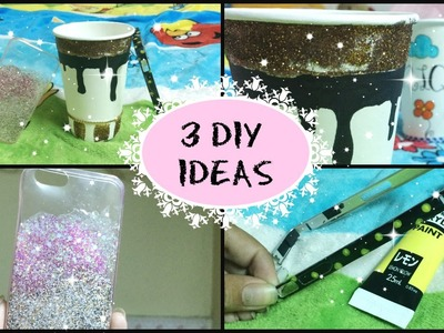 3 DIY Ideas! Phone case, bumper, paper cup | Simplee DIY