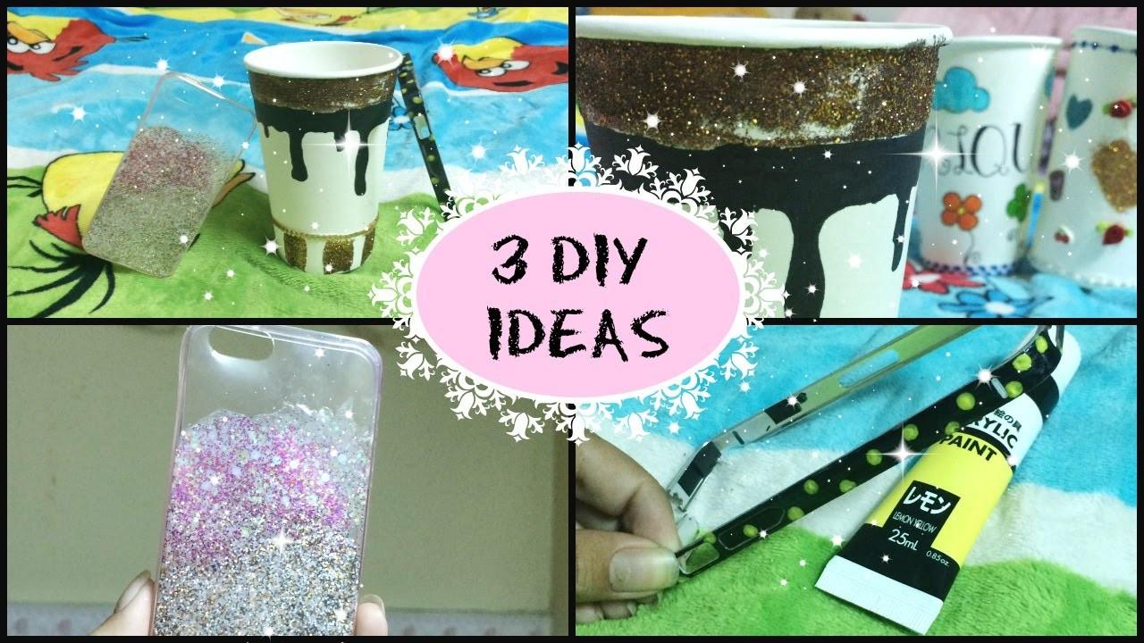 3 DIY Ideas! Phone case, bumper, paper cup | Simplee DIY