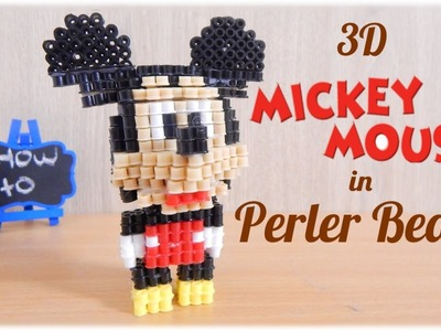 3D Mickey Mouse (Disney) in Perler Beads