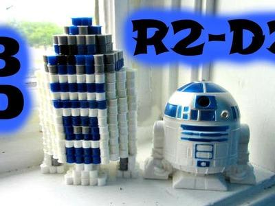 3D Perler Bead STAR WARS R2-D2 (FULL TUTORIAL)