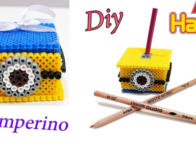 Back To School Supplies|Diy Temperino con Hama Beads.Sharpener Perler Beads