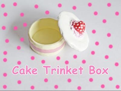Cake Trinket Box. Scatolina a forma di torta - Polymer Clay Tutorial