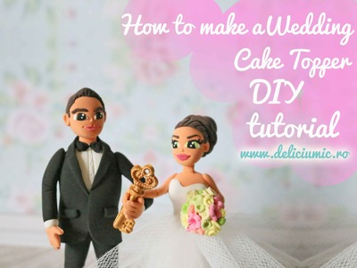 Cute Delight - DIY wedding cake topper Tutorial - handmade from polymer clay - Time Lapse
