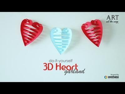 DIY: 3D Paper Heart Garland