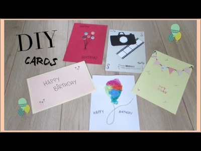 DIY Card Making ideas! I Quick and Easy ideas for homemade Birthday Cards Video!