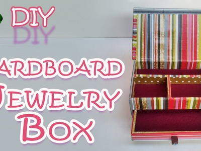 DIY CRAFTS: How to make a Cardboard Jewelry Box - Ana | DIY Crafts.