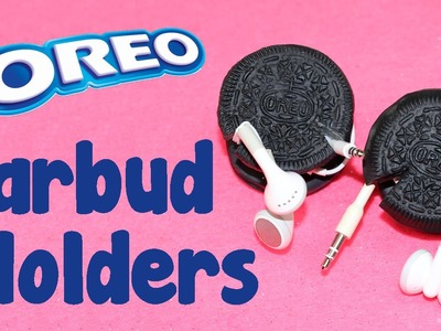 DIY Crafts: How To Make Oreo Cookie Earbud Holders - DIY  Earphone Organizer Tutorial