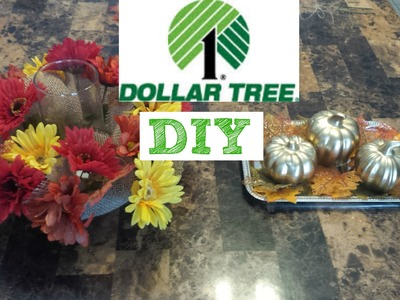 Dollar Tree Fall DIY centerpieces
