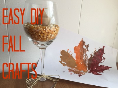 EASY DIY FALL HOME DECOR CRAFTS FOR EVERYONE TO DO THIS FALL IN 2015