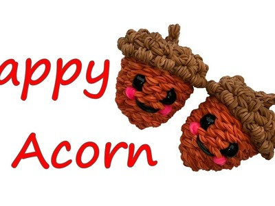 Happy Acorn Tutorial by feelinspiffy (Rainbow Loom)