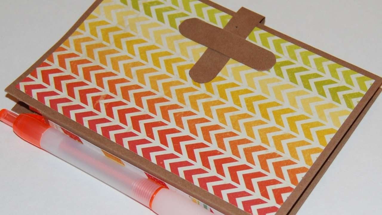 How To Create A Custom Notepad And Pen Holder - DIY Crafts Tutorial - Guidecentral