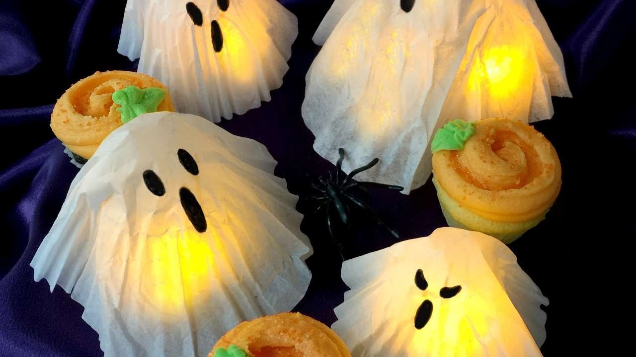 How To Create Cupcake Liner And Coffee Filter Ghosts! - DIY Crafts Tutorial - Guidecentral