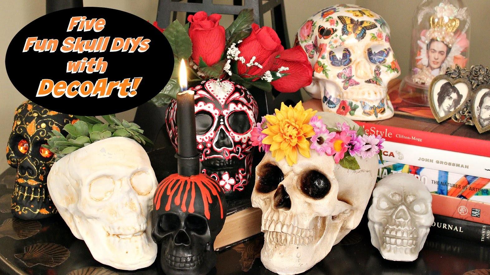 HOW TO: Five Skull DIY's for Skulloween