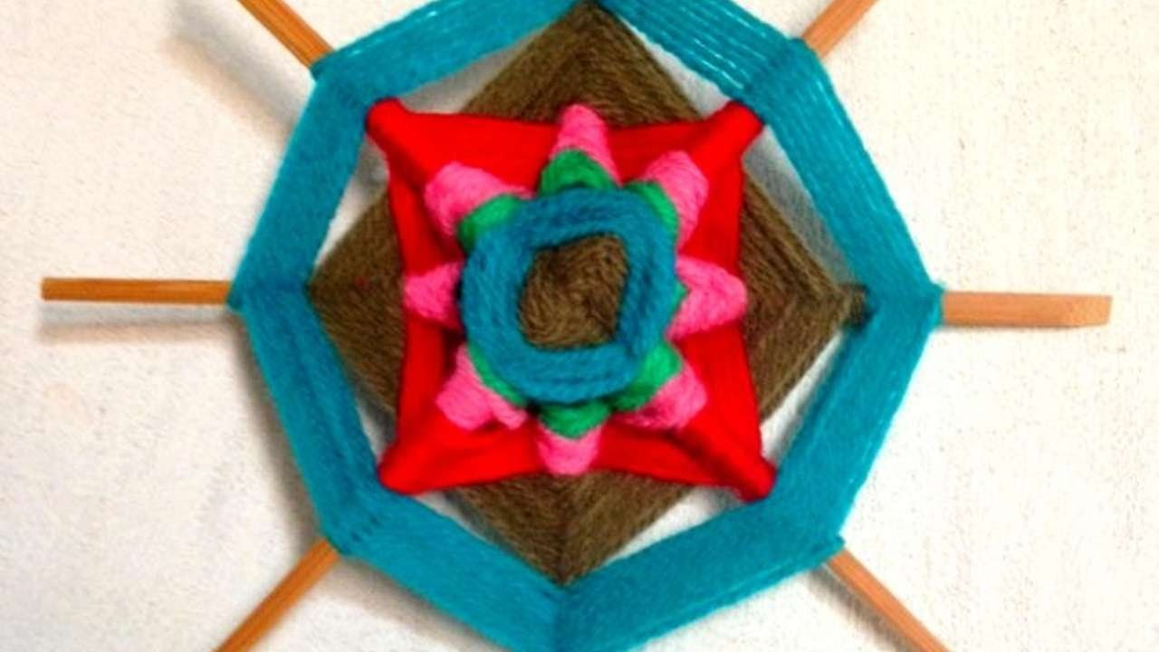 How To Make A Colorful God's Eyes Decoration - DIY Crafts Tutorial - Guidecentral