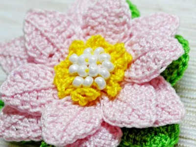 How To Make A Cute Crocheted Lotus Flower Brooch - DIY Crafts Tutorial - Guidecentral