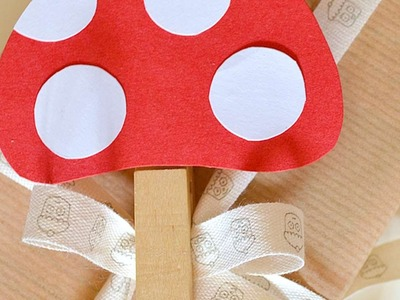How To Make A Cute Mushrooms Gift Tag - DIY Crafts Tutorial - Guidecentral