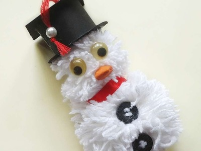 How To Make A Cute Pompom Snowman - DIY Crafts Tutorial - Guidecentral