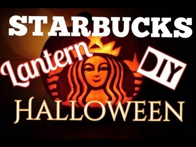 How to Make a Jack-o'-lantern - Starbucks Siren Logo (Halloween DIY)