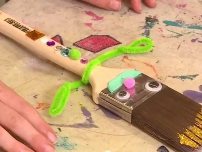 How To Make A Paintbrush Puppet - DIY At Bunnings