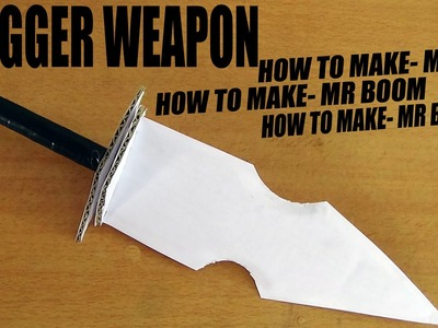 How To Make A Paper Dagger fighting  - Paper toy weapons - DIY